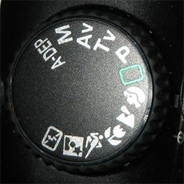Canon EOS 30D Mode Dial