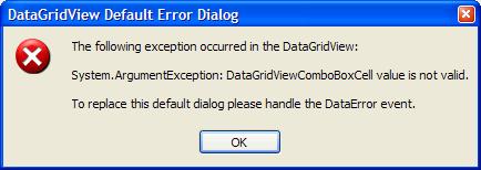 DataGridViewComboBoxCell Error Message Dialog