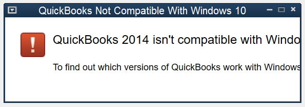 QuickBooks Not Compatible with Windows 10