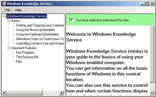 A possible 'Windows Knowledge System'