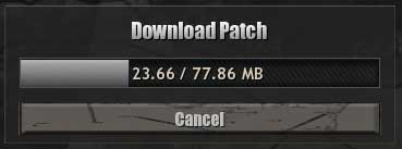 CoH Patch Download Screen